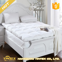 Best Sleeping Queen King custom polyester down feather mattress pad wholesale cheap inflatble bed mattress topper