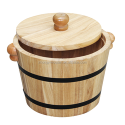 hot selling FSC customized decorating wood gift bucket for food