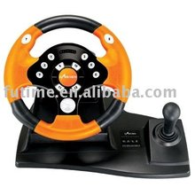 PC-USB Wired Vibration Racing Car game Steering Wheel