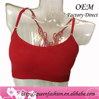 New Arrival Sexy Lady Underwear Fashion Design Women Seamless Vest Tank Tops Back Fancy Tube Butterfly Sexy Bra Panties Camisole