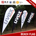 Certificated factory custom logo polyester beach flag