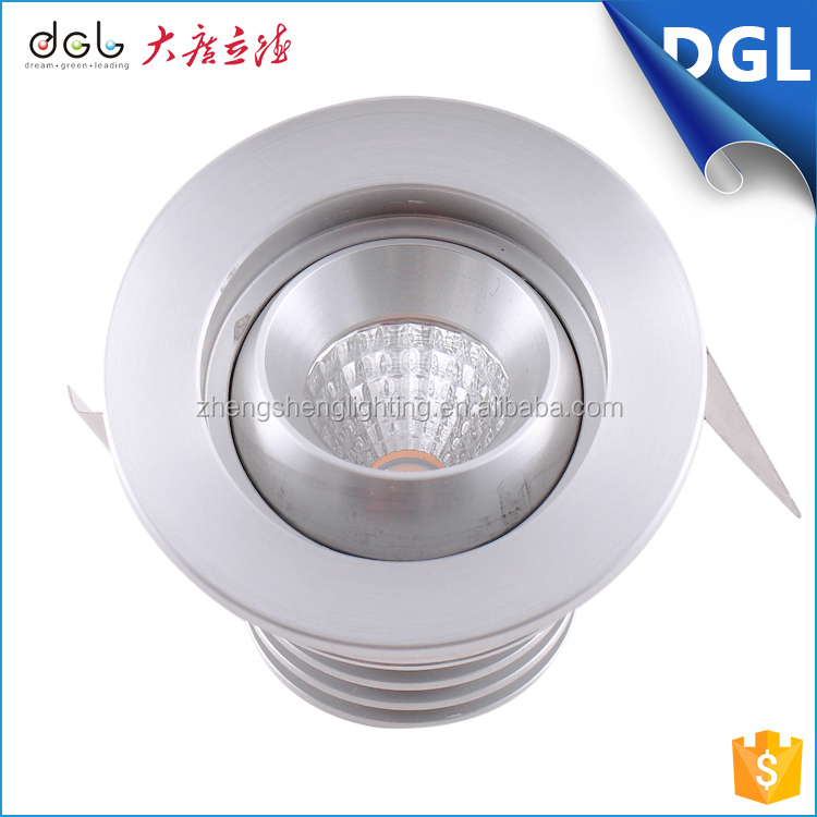 Kitchen Bathroom Office 3W Round Square LED Recessed Ceiling Light