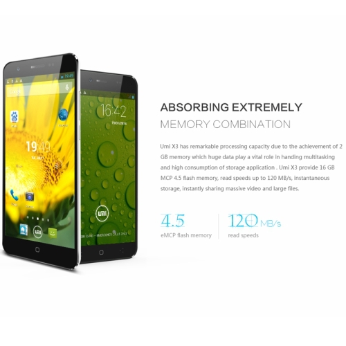 Original UMI X3 5.5 Inch IPS Screen Android 4.2.2 3G Smart Phone