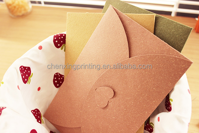pink Greeting Card Envelope Blank Cards and Envelopes for party and wedding