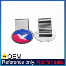 Wholesale Promotional Cheap Custom Logo Print Elastic Steel Metal Bookmark Clip