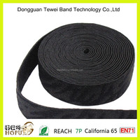 High quality 35mm shiny jacquard elastic for men's underwear