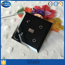 clear square decorative touch screen glass switch electrical smart panel