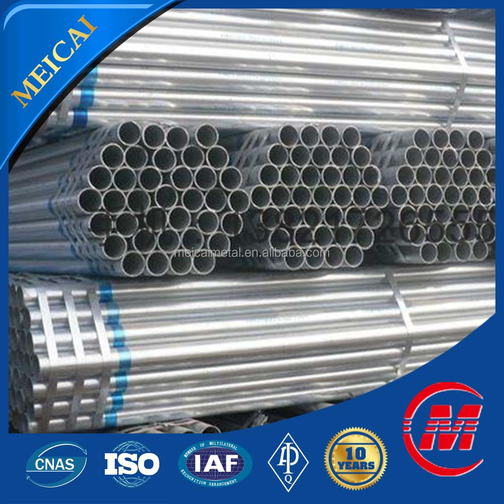 Fluid Pipe Application and Round Section Shape galvanized steel pipe