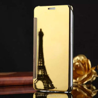 Attractive Design Flip Mirror Phone Cover /Luxury Hybrid Leather Mirror Case For Samsung Galaxy A7 2016