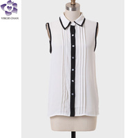 2014 summer blouse collection blouse collar neck designs fashion cutting blouse design