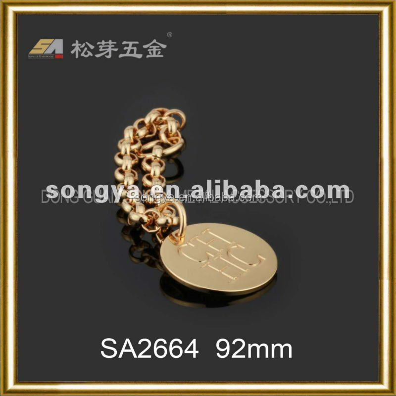 Song A Metal Lady bags accessory professional metal plate Offer customzied metal labels