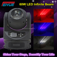 Professional DJ Night Club Lighting RGBW Color Mixing 60w LED Infinite Beam Moving Head