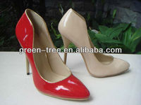 New design latest sexy red high heel shoes for girls