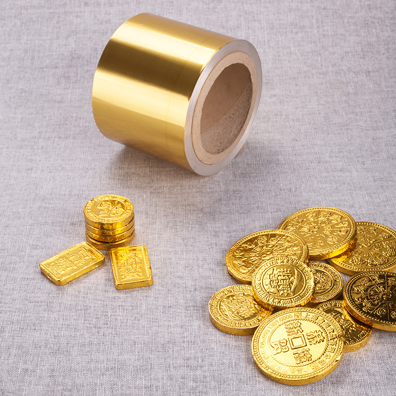 Food Use Gold Wrapping Chocolate Coins Aluminium Foil
