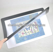Hot sale - photo frame rubber placemat, magnetic photo frame desk pad
