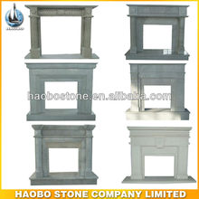 Natural China White Marble Fireplace for home