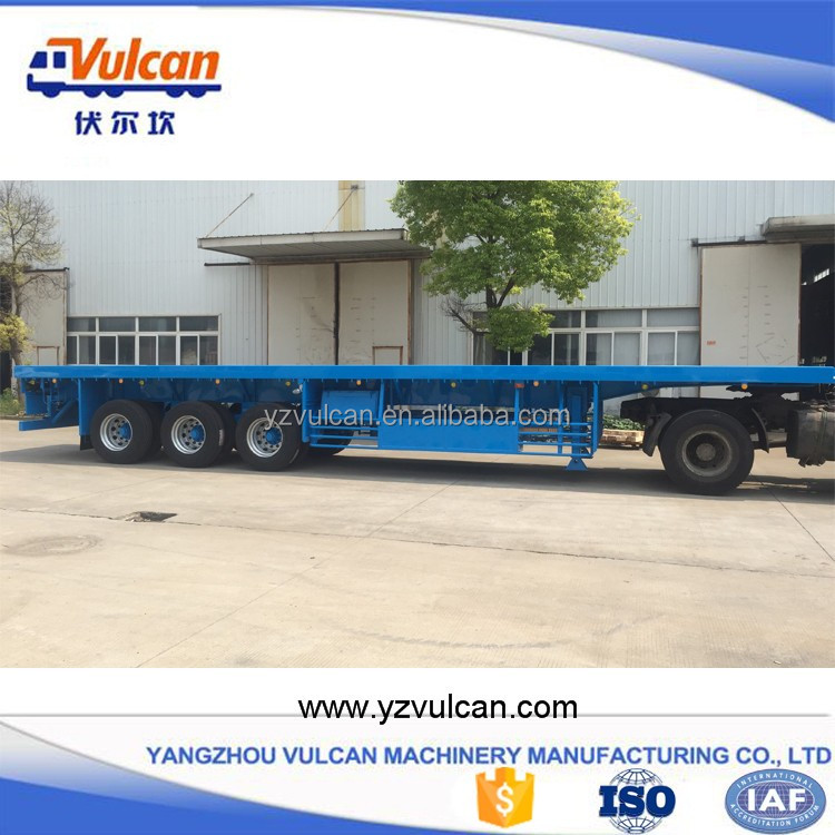 3 axle air bag suspension flatbed semi trailers for sale