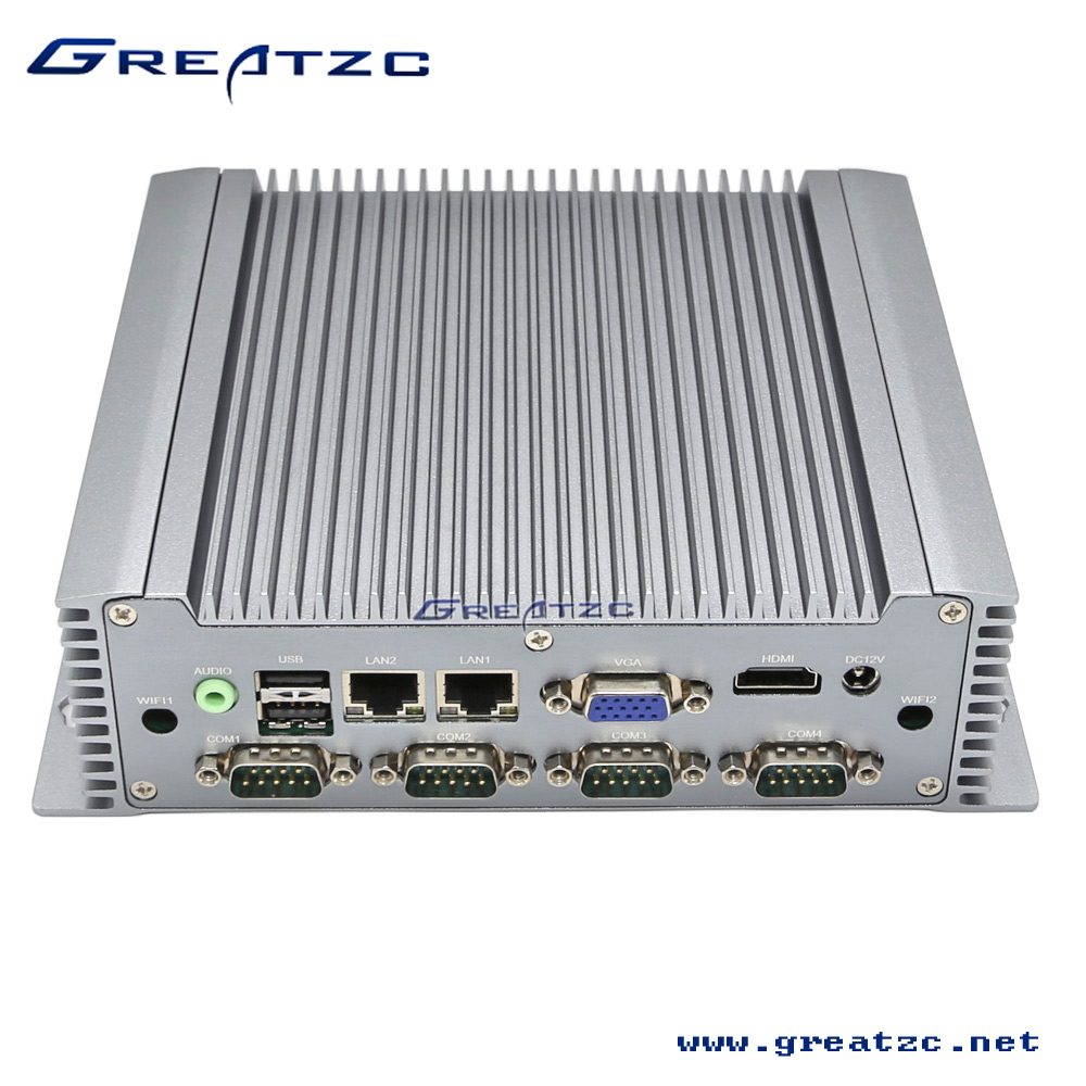 ZC-G3217DL Fanless Intel I3-3217U Industrial PC, 6 RS232 COM Ports Industrial Mini Computer With 2 Ethernet Lan Ports