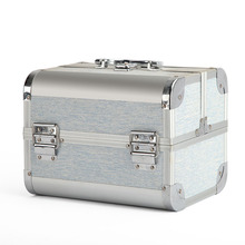 Professional luxury cosmetic box aluminum makeup travel beauty case