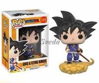 New design Dragon ball Z GOKU funko pop 10cm GOKU&FLYING NIMBUS mini PVC funko pop Anime toy wholesales