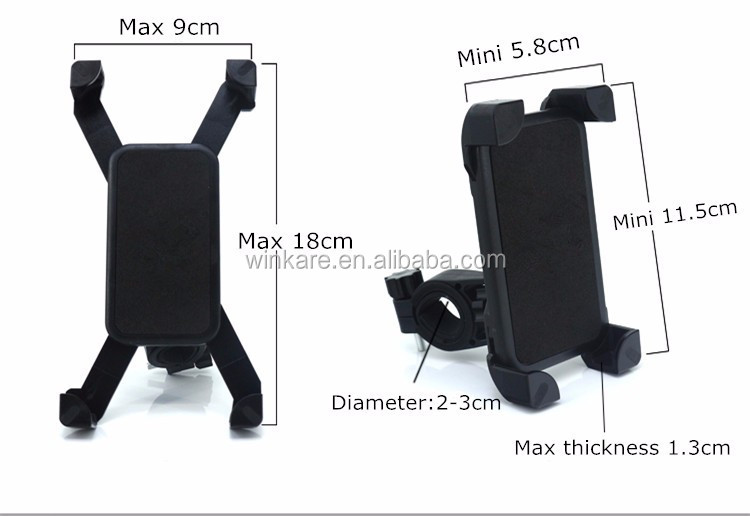 mobile phone accessories sponge mountain bike bicycle phone stand holder with lock