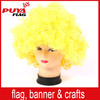 2015 hot sales promotional football fans wig,yellow soccer fans wigs/cosplay wigs