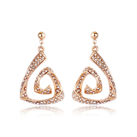 Fashion different style jewelry crystal gold earring models