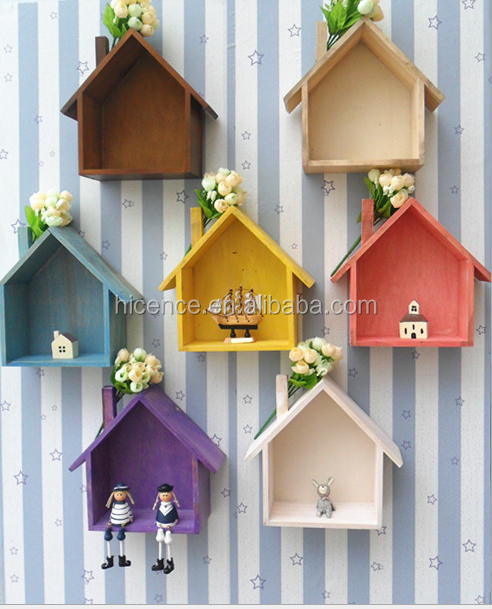 Wooden crafts home case zakka for decoration