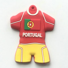Direct factory price custom soccer uniform pvc keychain with new style