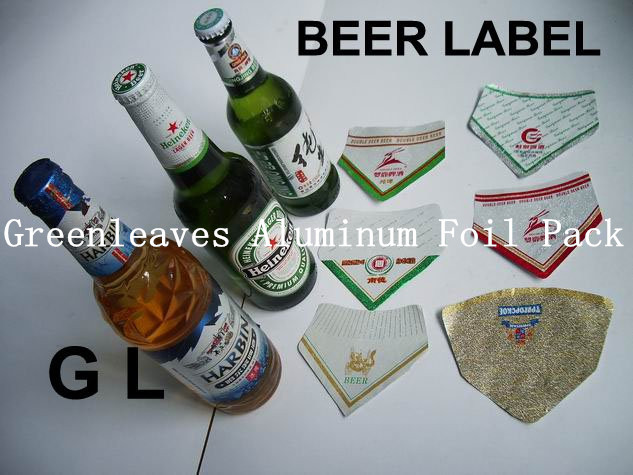 Beer Bottle Embossing Aluminium foil beer labels