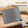 Genuine rfid bluetooth anti-theft alarm men's smart leather wallet