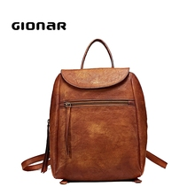The Best Fashion Design Vintage Natural Leather Backpack For Ladies