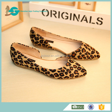 New women casual leopard pictures ladies leather moccasin flat shoes women casual