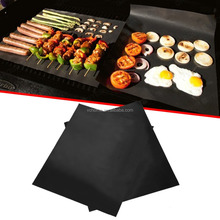 Innovative 2017 extra thick 0.3 mm BBQ grill mat non stick reusable sheet