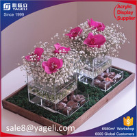 Clear Waterproof Acrylic Flower Gift Boxes
