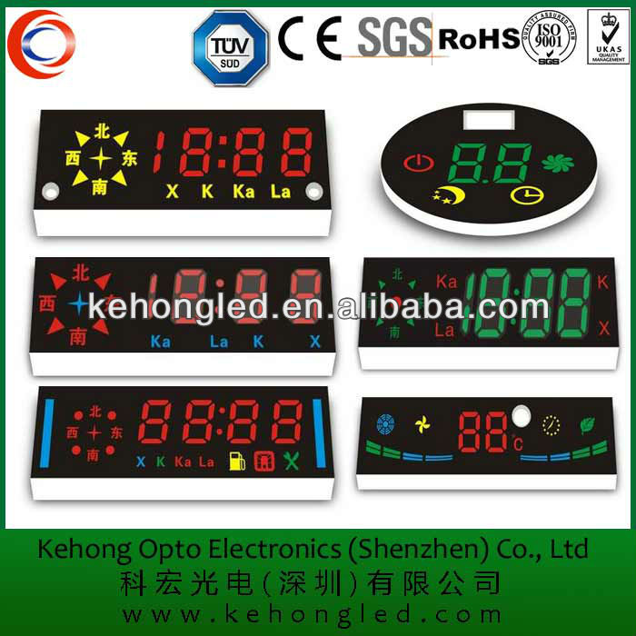 customized led display induction cooker display for kitchen appliance