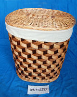 willow storage laundry baskets with lid