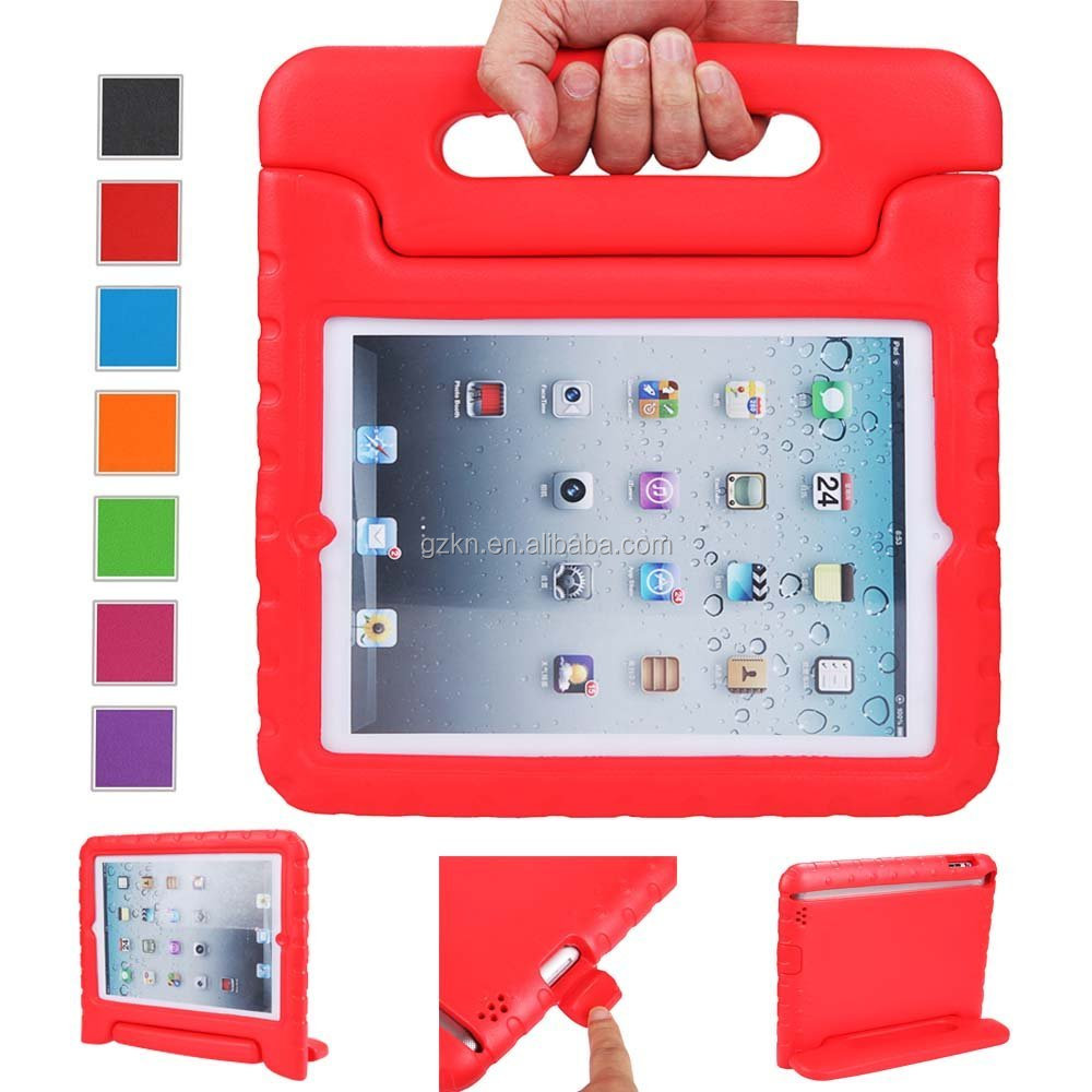 2016 top quality EVA shockproof case cover for iPad 234 with handle