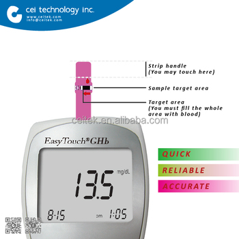 CE Approved Multi function Blood glucose and Hemoglobin Meter
