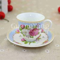80cc or 110cc or 220cc customized coffee cup set ,coffee cup plate set for sales in china