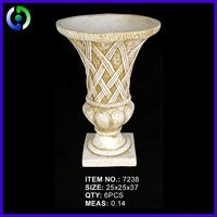 Latest Hot Selling!! China new style outdoor decorative round flower pots from China manufacturer
