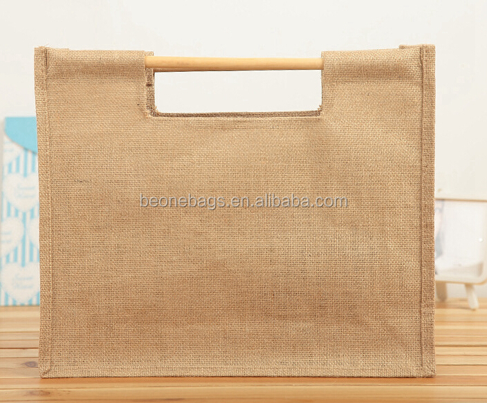 Wholesale Promotion Hemp Gift Bag Jute Burlap Wine Gift Bags