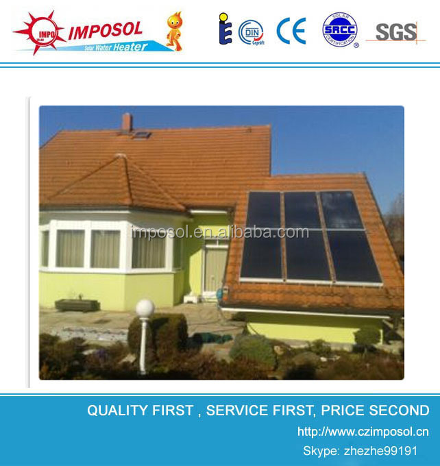 household rooftop flat panel split solar water heating system,solar power system