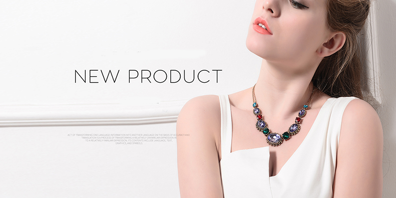 Wholesale Fashion Designs Jewelry Accessories Crystal Choker Necklace