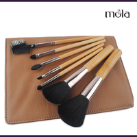 Luxury high-end professional 7pcs bamboo makeup brush from manufacturers of china