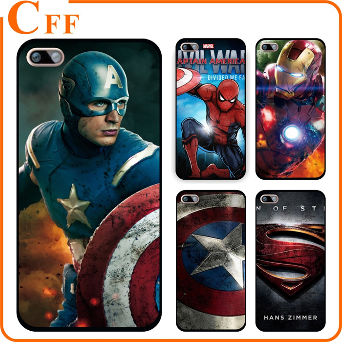 Marvel Avengers Captain America Iron man Hard PC Case Cover for fundas iPhone 7 7 PLUS Covers Shield Spiderman Deadpool Painted