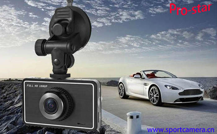 Full hd 1080p car camera dvr video recorder with GPS/G-sensor/Motion detection