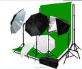 Studio Lighting and Background Muslin Backdrops Photography Studio lighting Kit umbrella Backdrops support stand bulbs clamps