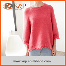 Women fashionable clothing 2016 pure pattern modern pullover sweaters