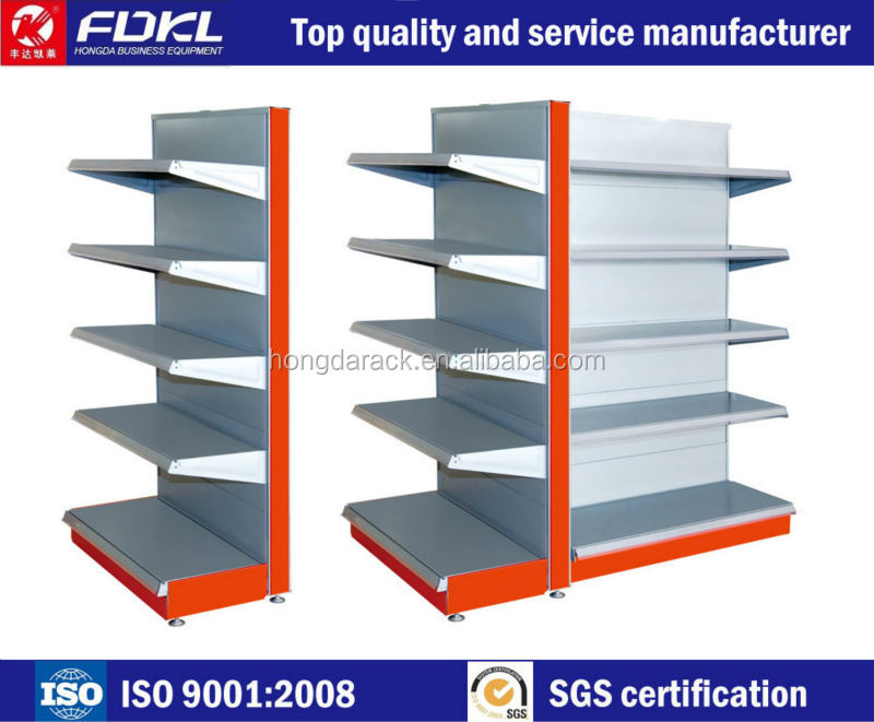 Wholesale modern Double sided adjustable metal book shelf